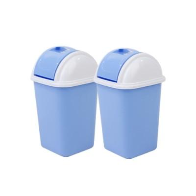 WELL WARE ถังขยะฝาสวิง 6 ลิตร ขนาด 21x21x34 ซม. แพ็ค 2-BLUE